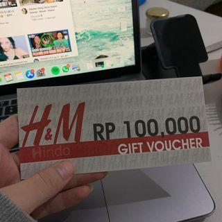 H&M Grand Indonesia Gift Voucher worth Rp 100.000