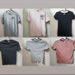 H&M T恤 6件