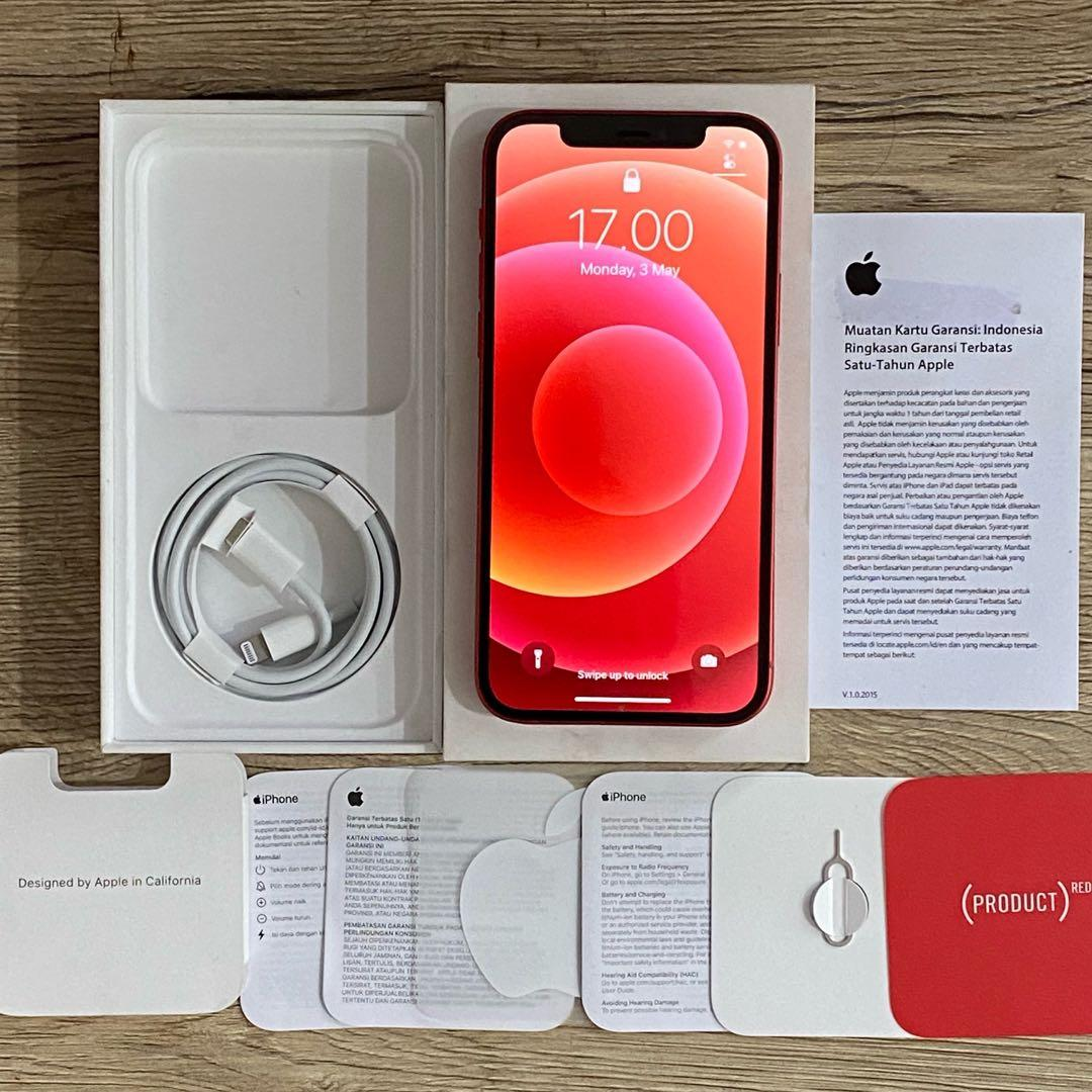 iPhone 12 64GB iBox Red Pemakaian Belum 1 Minggu
