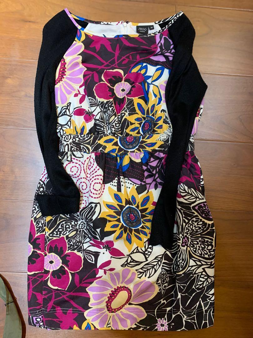 IROO 花朵合身時尚洋裝