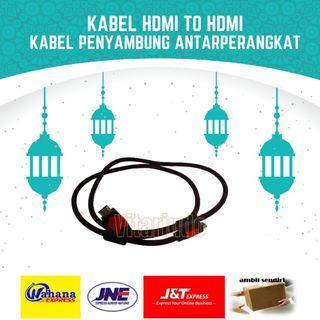 Kabel HDMI to HDMI sambungan TV Proyektor Perangkat Lainnya
