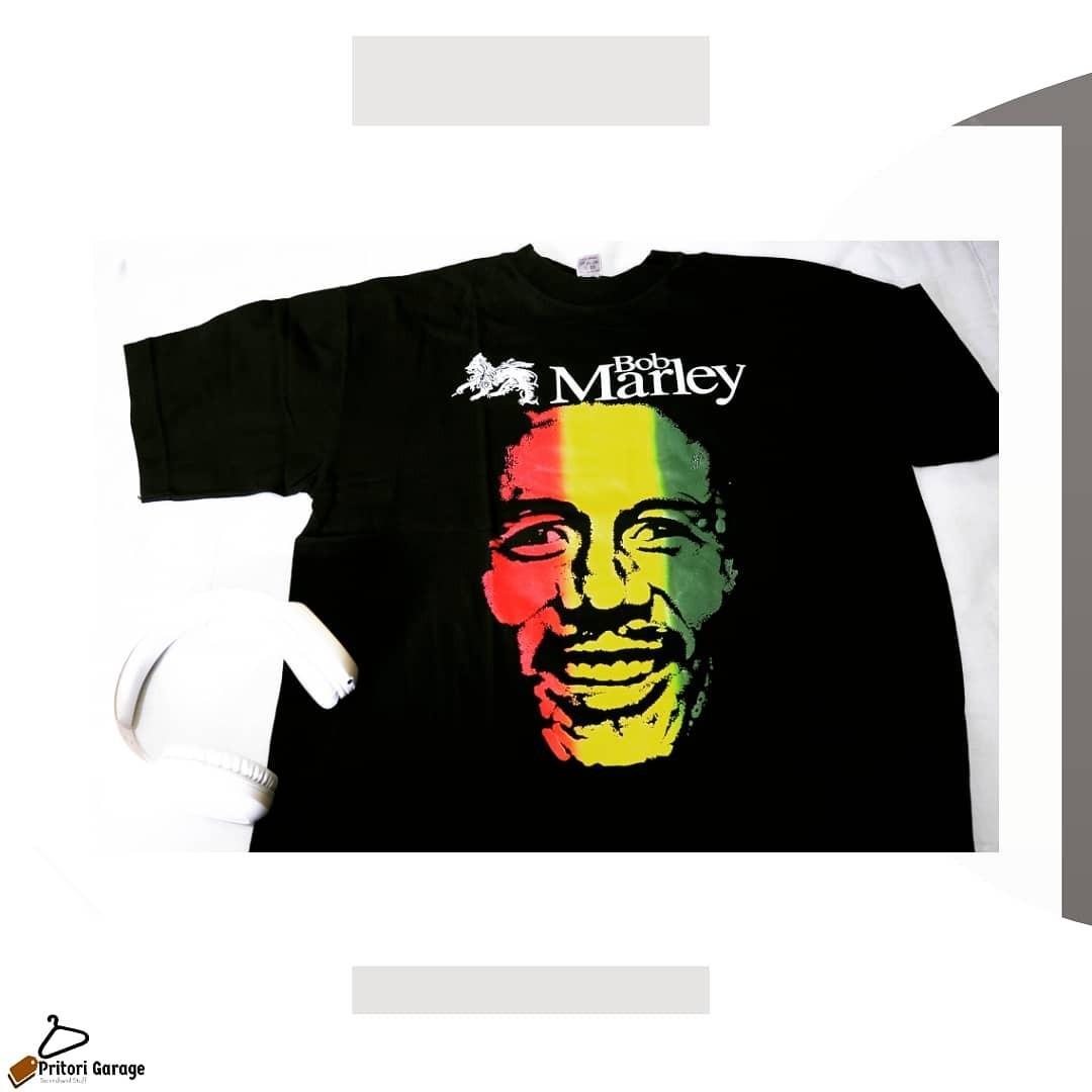 Kaos Pria Merchandise Licensed Bob Marley Vintage