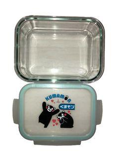 #我媽的《九成🆕》KUMAMON熊本熊密扣式玻璃保鮮盒(便當盒)