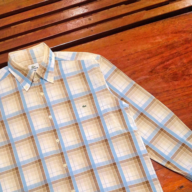 Lacoste Button Down Tartan Shirt