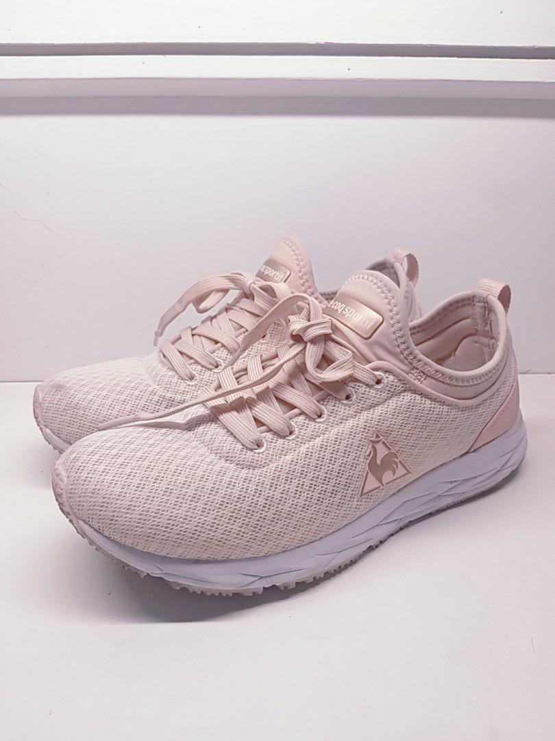專櫃購入/le cop sportif 運動鞋 九成新 粉色運動鞋 透氣慢跑鞋 法國 #排行榜