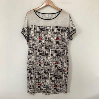 Mesh Printed Dress