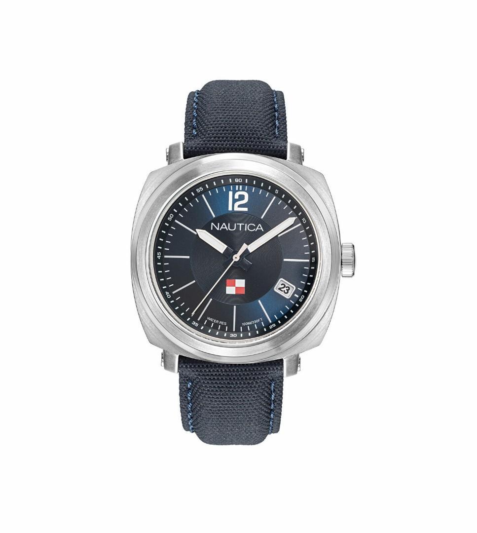 Nautica 男錶 NAPPGP901 公園門 45mm 藍色錶盤 皮革手錶
