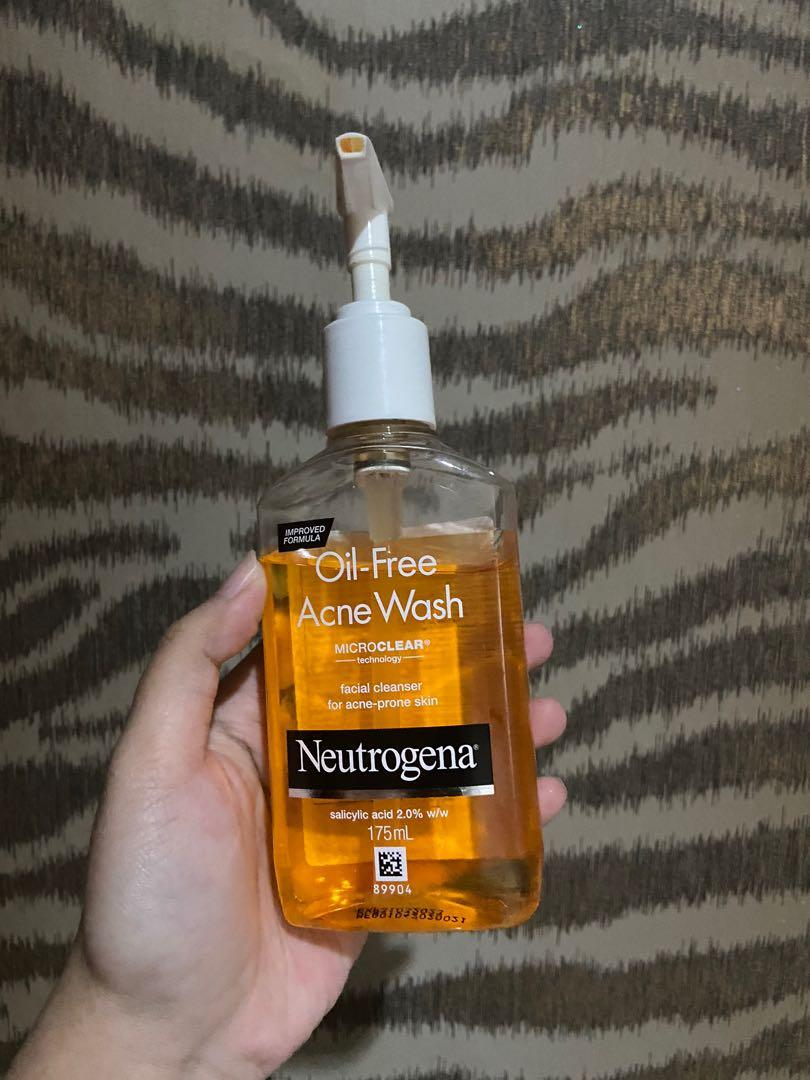 Neutrogena Oil-free Acne Wash Face Wash sabun muka