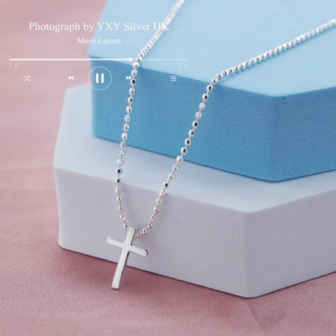 New十字架✝️純銀項鍊