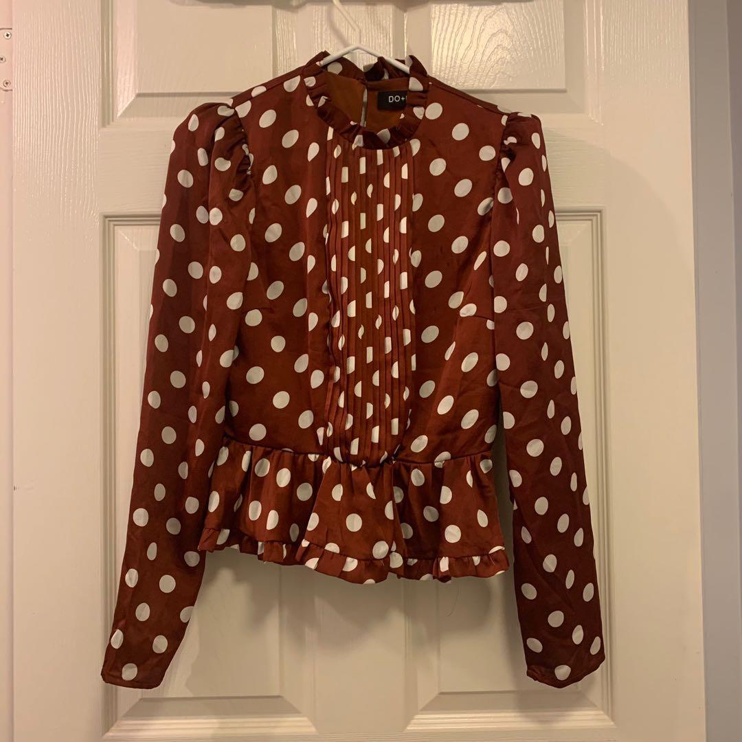 Nordstrom polka dot blouse s
