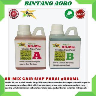 Nutrisi AB-MiX 1 liter Pekatan 500ml Tanaman Sayuran Daun dan Buah