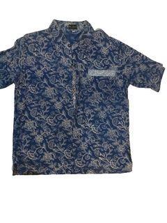 OBRAL ALL ITEM - Kemeja Batik Motif Biru