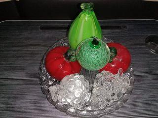 Pajangan meja Kristal buah2an