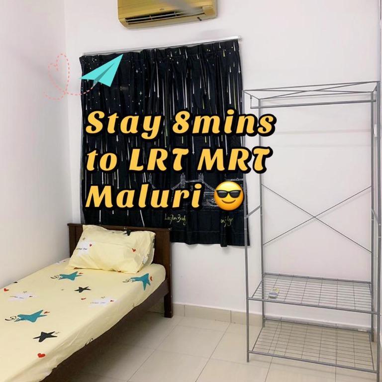 RM600 Single Room, 8 Mins to LRT MRT Maluri / Aeon Maluri & Sunway Velocity