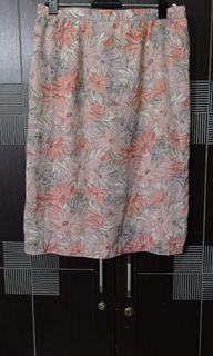 Rok bunga /flower skirt S