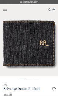 Rrl Double RL Ralph Lauren Wallet Dompet Denim Jeans non Selvedge Selvage Second Preloved Bekas Thrift