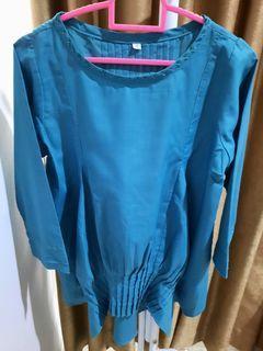 rryni house blouse biru tosca preloved