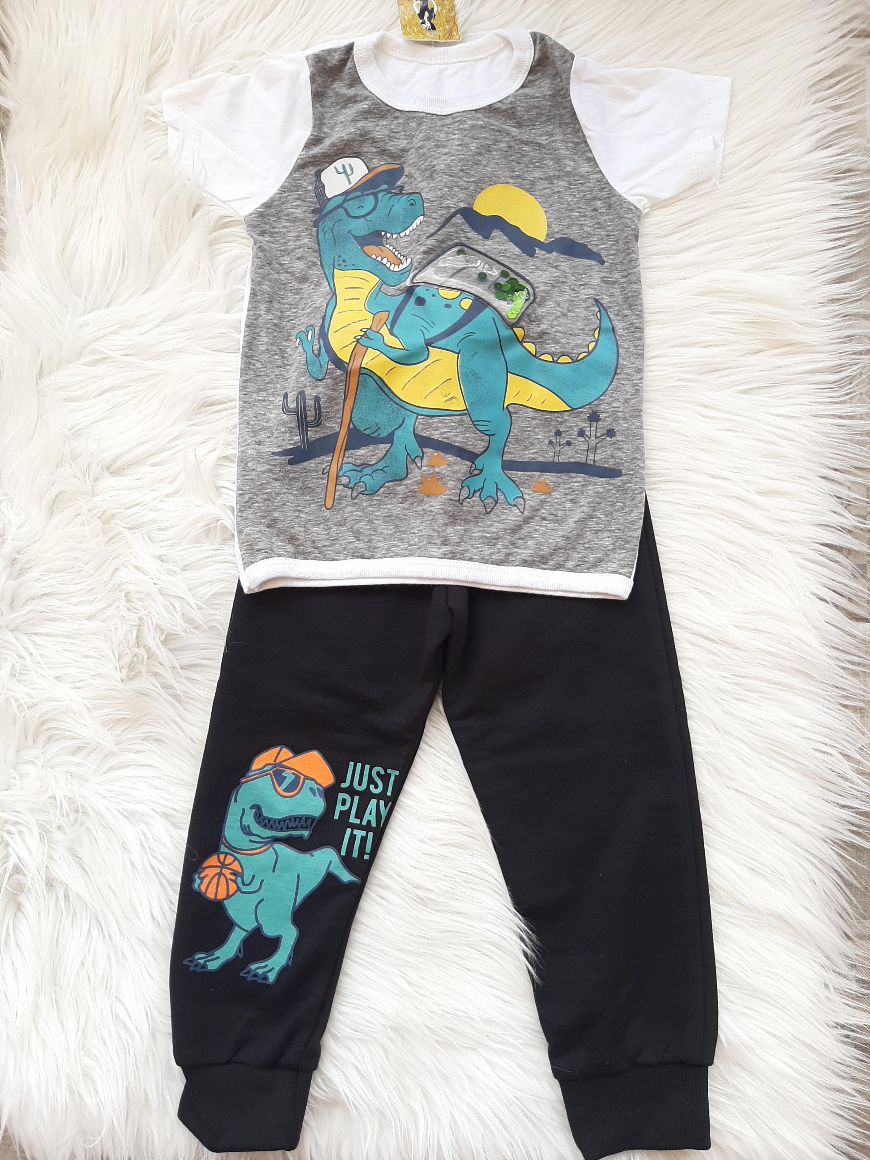 Setelan baju bayi dino