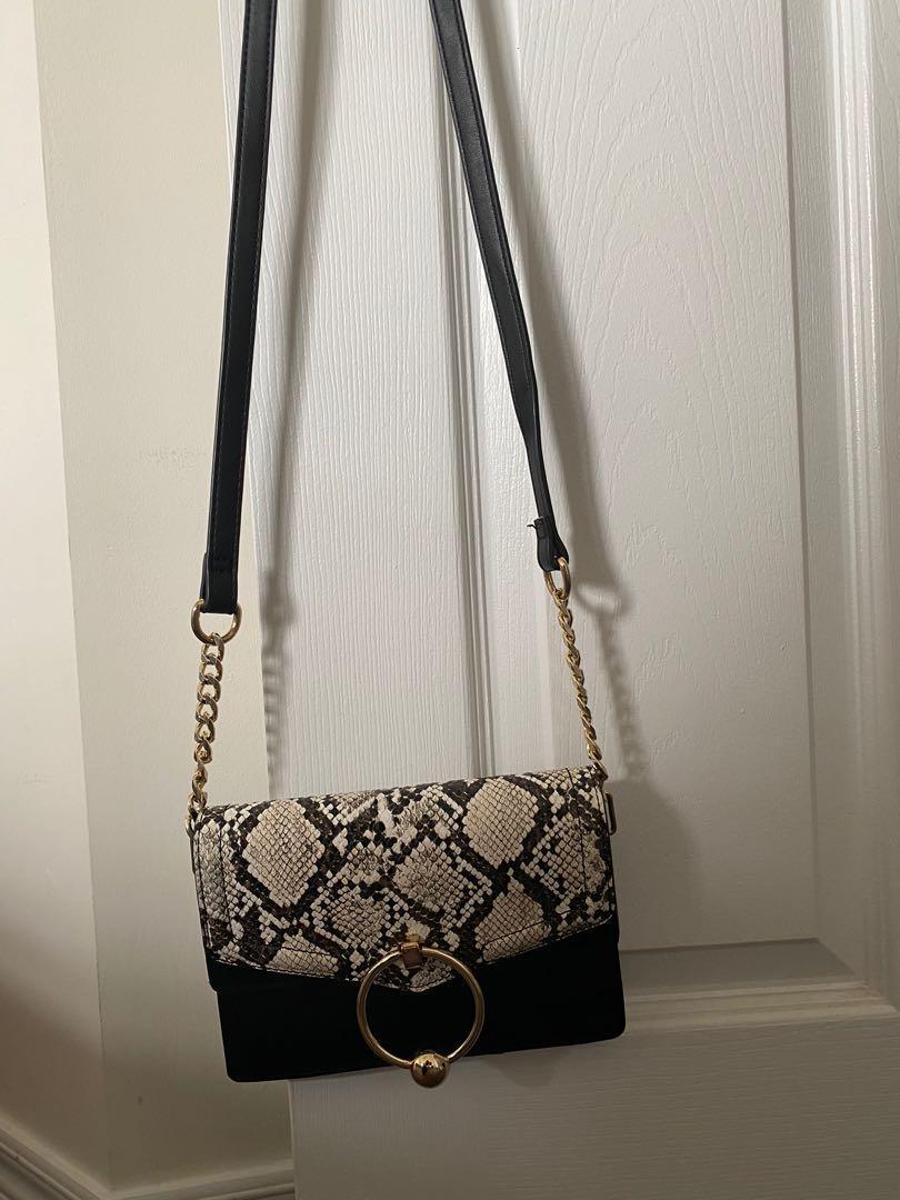 Snake print topshop crossbody purse