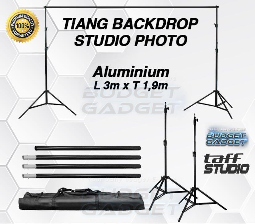 Tiang Backdrop | Bracket Stand 10ft untuk Background Foto Studio