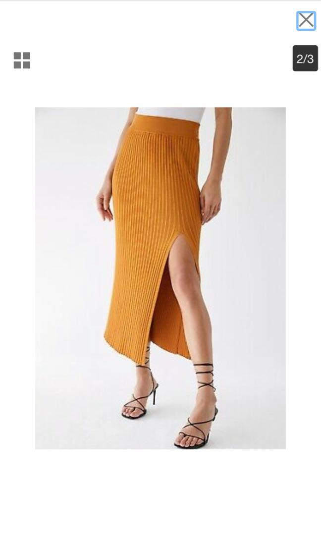 Wilfred front slit knit skirt BNWT XS