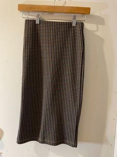 Zara格子窄裙