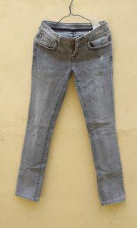 Zara Straight Jeans Light Grey