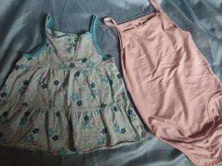 環保價$10兩件 女幼童 H&M全新吊帶夾衣+二手carter's裙仔
