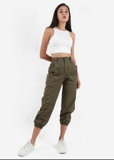 6style Cargo Pants in Army Green (Size M) BNWT