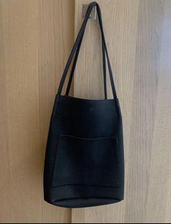 墨黑色肩背手提包