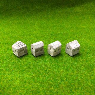 水泥小房子 擺飾 (4件1組)