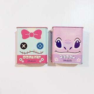 小雜物   老物 史迪奇 鐵盒 收藏 天使 醜丫頭 空盒 迪士尼 絕版