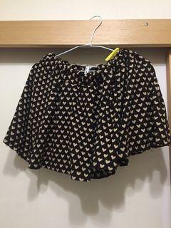 [二手] 黑色愛心短裙 black skirt with hearts