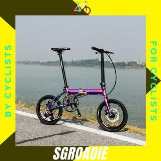 "⭐️Dagger Authorised Retailer⭐️Dagger D3 D9 Plus 16"" 1 x 3 Speed Disc Brake Foldable Bike"