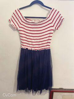 Dazzlin拼接紗裙洋裝