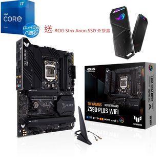 Intel i7 11700 CPU + TUF GAMING Z590-PLUS WIFI 送 ROG SSD 外接盒