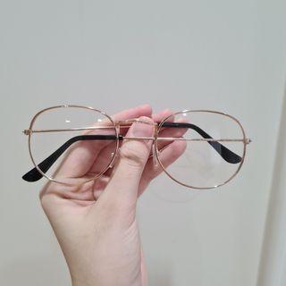 Kacamata Korea Fashion Rosegold