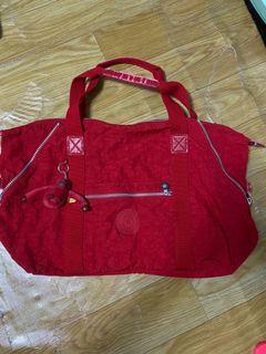 Kipling超大容量行李袋(紅色)