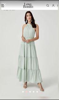 Love Bonito Milana Halter neck dress in mint