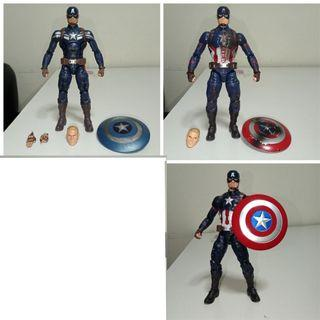 Marvel Legends Captain America civil war stealth suit battle damaged giant man wave mcu 3 pack