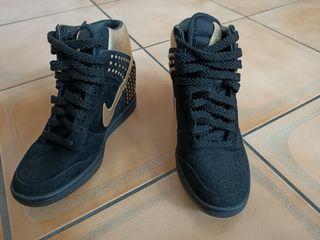 Nike 615873-001 22.5cm 黑 金 增高鞋 正品