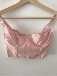 Pink bustier top
