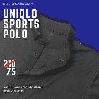 🇯🇵(SISA SATU) Uniqlo Polo Black (size L/ Kemeja/ Murah/ Black Hitam)