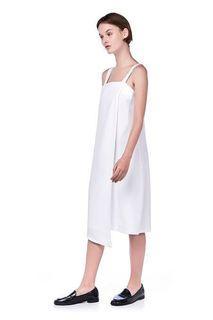The editors market TEM Morissa Overlap Midi White Dress