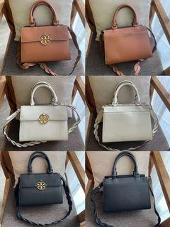 Tory Burch Miller leather top-handle satchel handbag shoulderbag