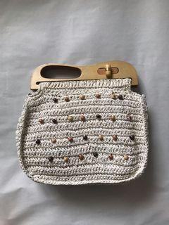 Vintage Crochet Pouch