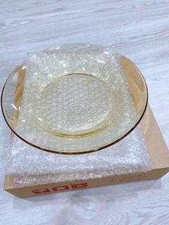 康寧23公分透明琥珀餐盤