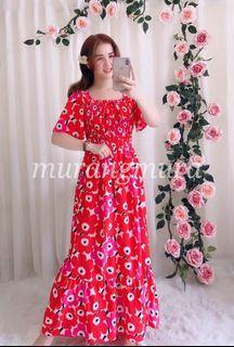 2way Maxi Floral Ruffles Dress