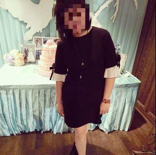 《二手特賣》黑色短袖洋裝