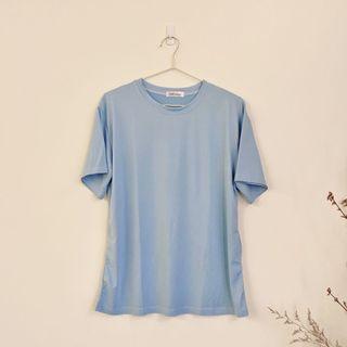 寶寶藍 圓領 短袖 上衣 踢恤